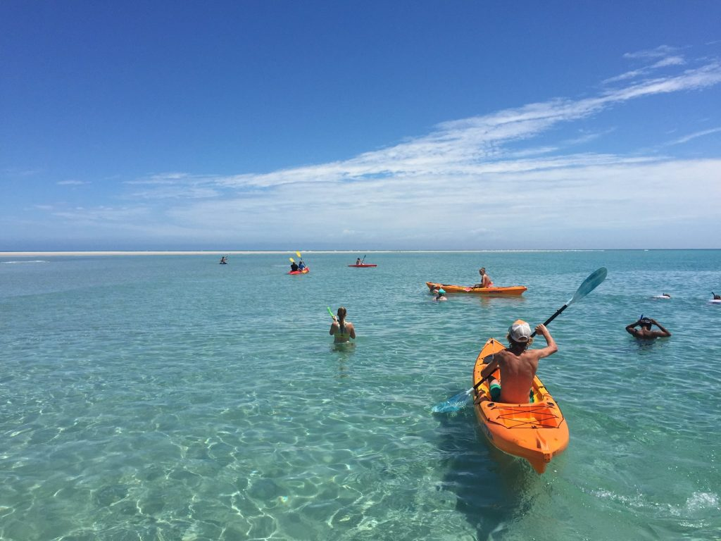 Fraser Island West Coast kayaking and snorkeling