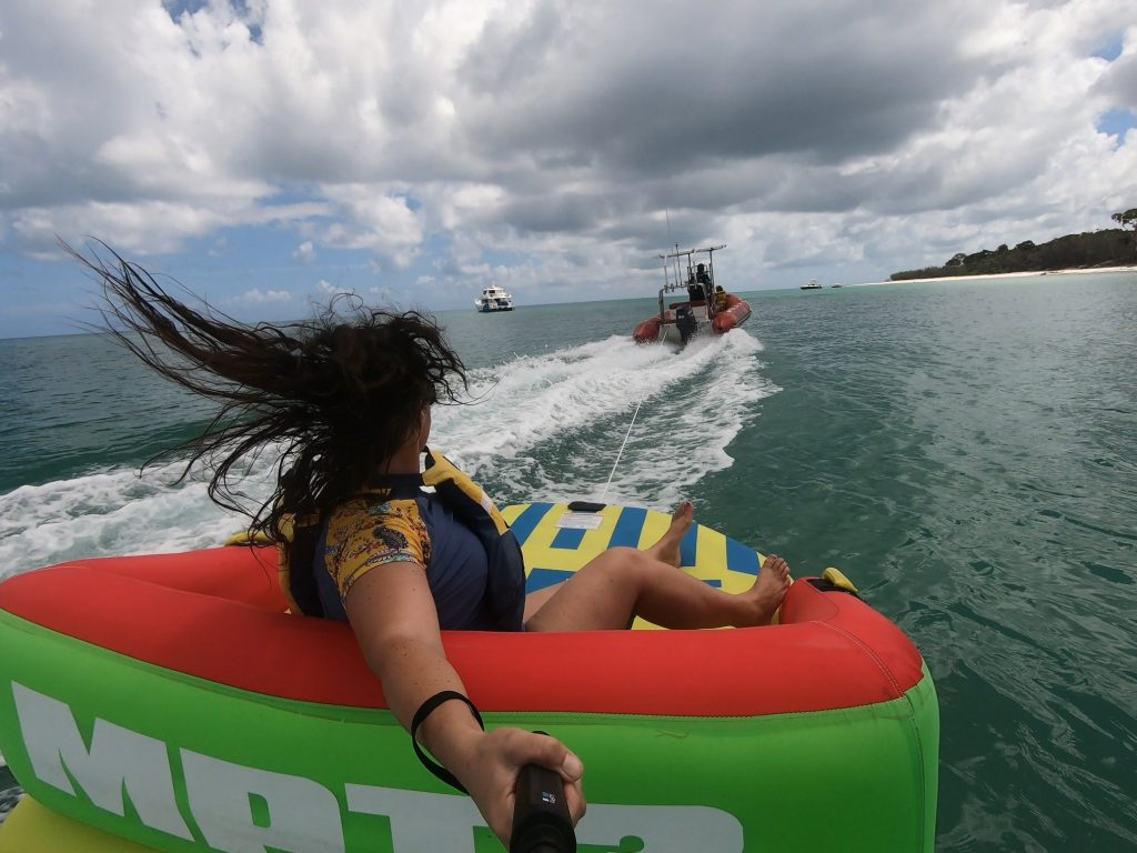 Fraser Island West Coast inflatable tube ride