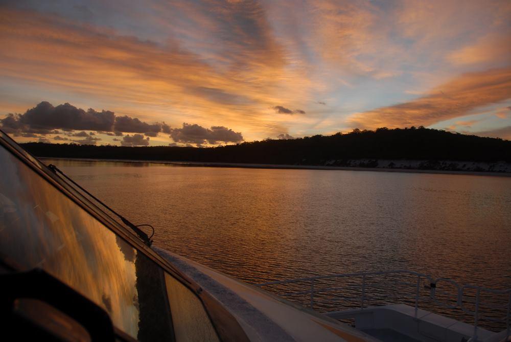 Whalesong Cruises Hervey Bay Sunset cruise Fraser Island