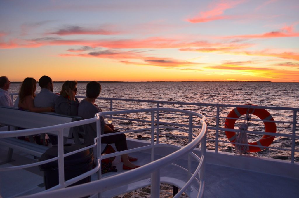 Whalesong Cruises Hervey Bay Sunset cruise relaxing