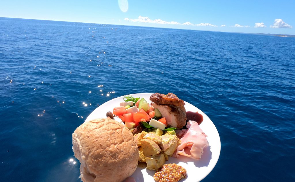Whalesong Cruises Hervey Bay healthy delicious buffet lunch