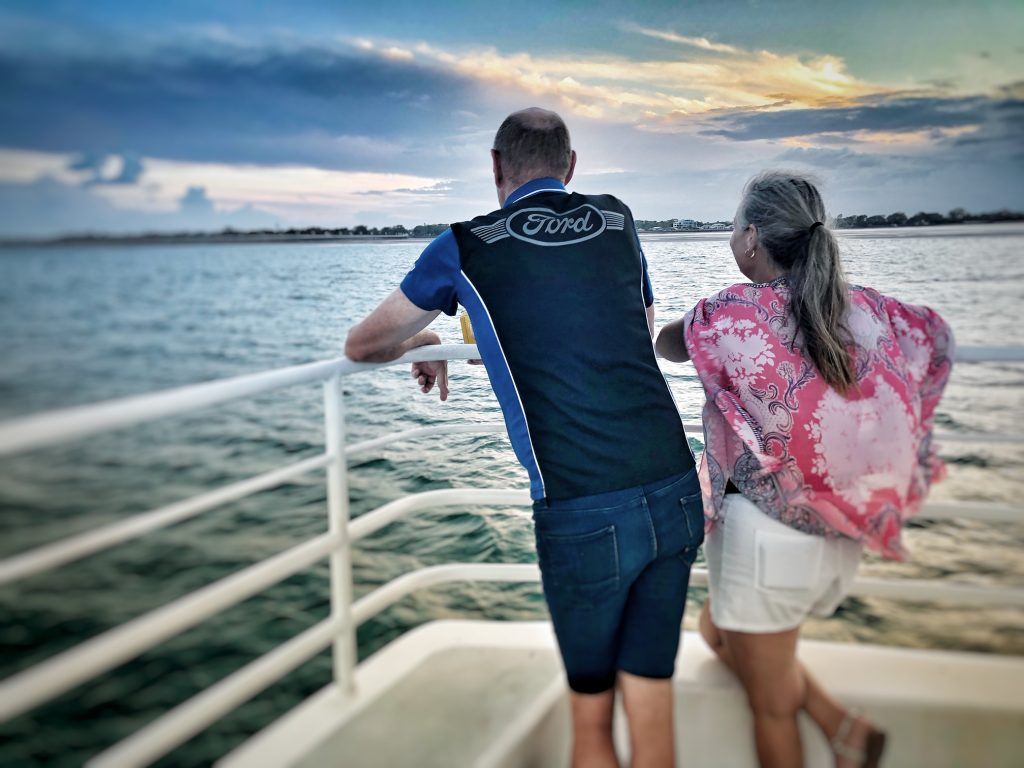 Whalesong Cruises Hervey Bay Sunset cruise romantic