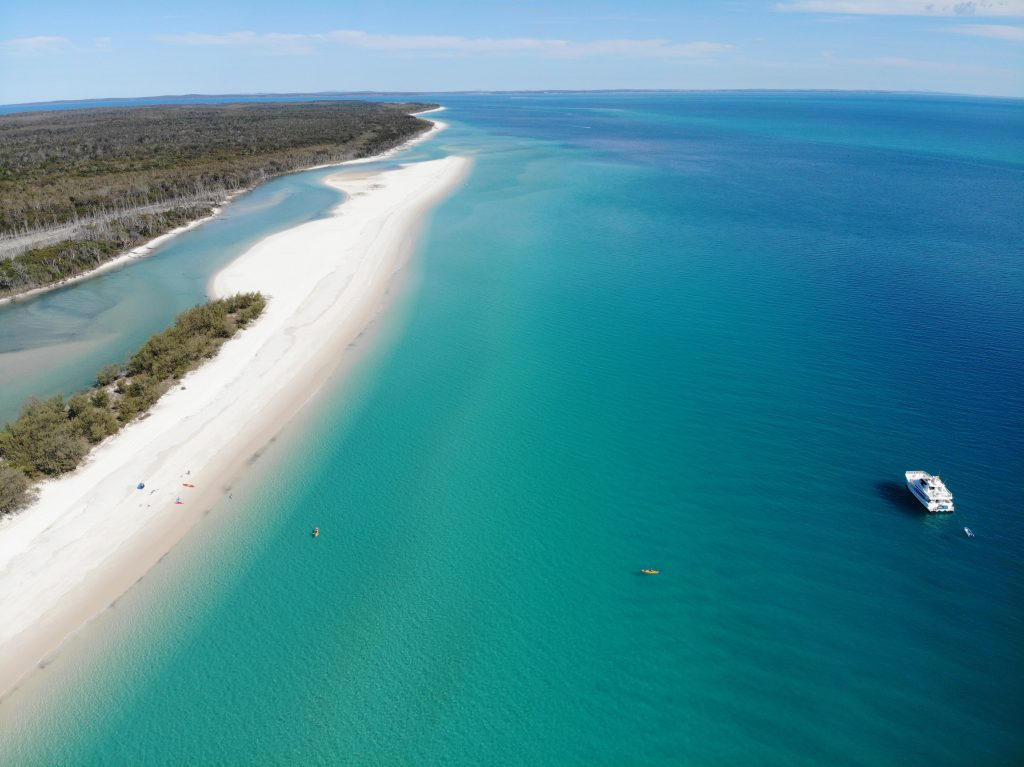 Whalesong Cruises Hervey Bay Fraser Island secluded West coast beach