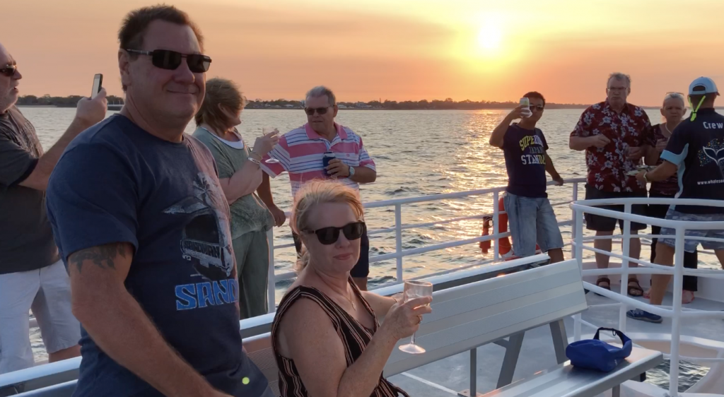 Whalesong Cruises Hervey Bay Sunset cruise enjoy with friends