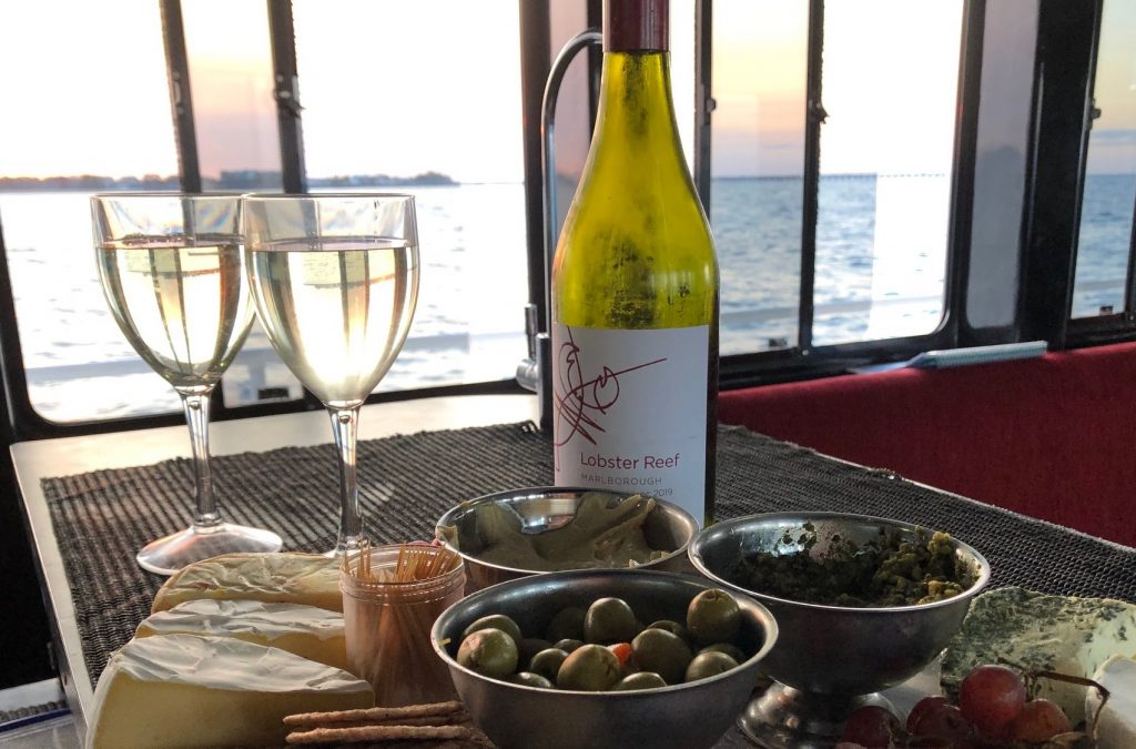 Whalesong Cruises Hervey Bay Sunset cruise good food and wine