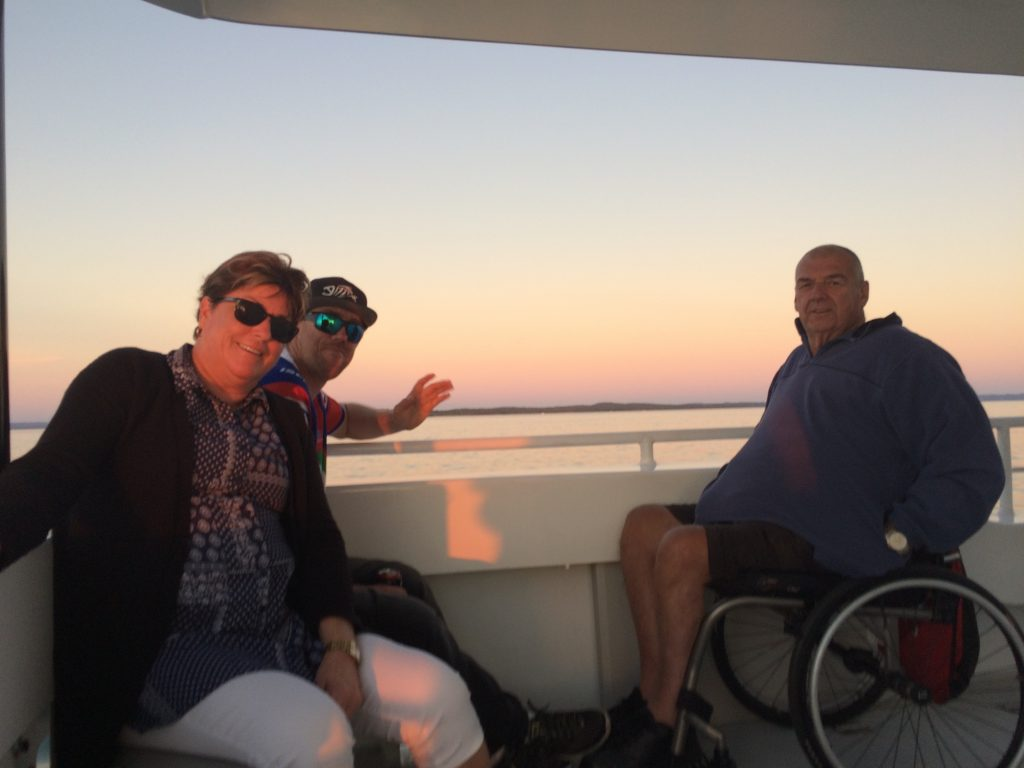 Whalesong Cruises Hervey Bay Sunset cruise wheelchair and pram accessible