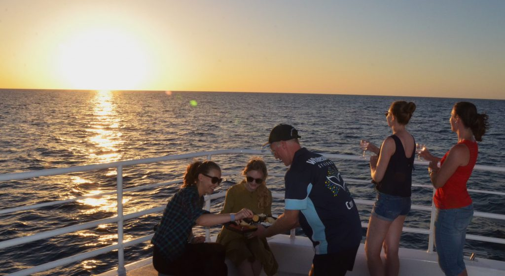 Whalesong Cruises Hervey Bay Sunset cruise excellent service