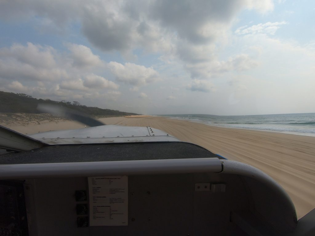 Airplane on Fraser Island