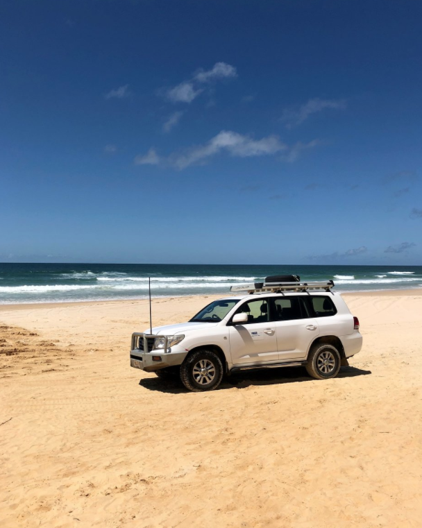 Fantastic Fraser landcruiser on 75 mile beach Fraser Island