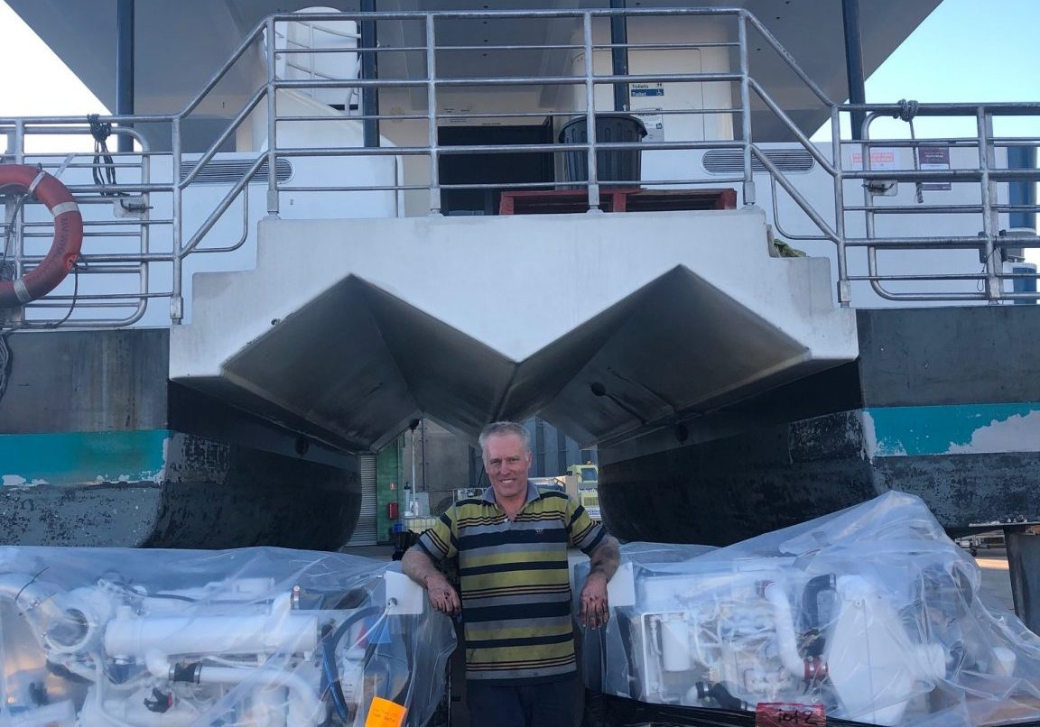 Whalesong Cruises Hervey Bay new engines